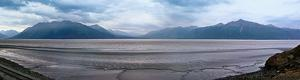 Panorama of Mountains at Seward Highway in Alaska