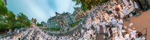 Diner en Blanc de Montréal 2017 at the Hôtel de Ville in Montreal