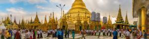 Shwedagon Pagoda of Yangon Myanmar in Virtual Reality